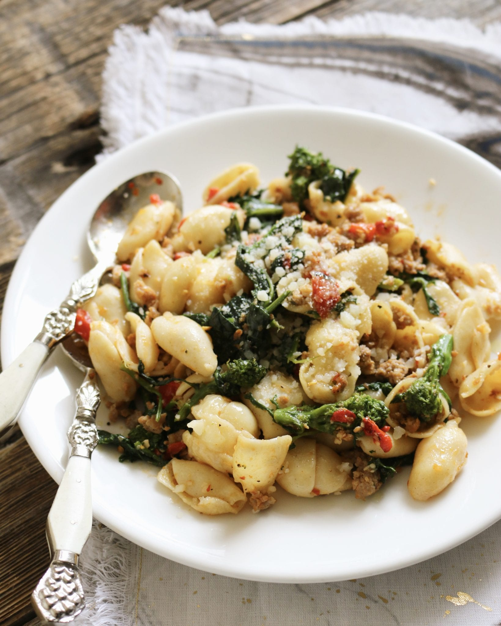 pasta, spicy, rapini, hot, summer