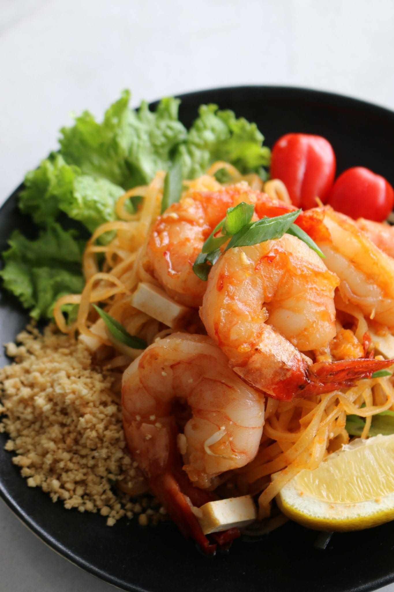 shrimp, pad thai, noodles, fresh