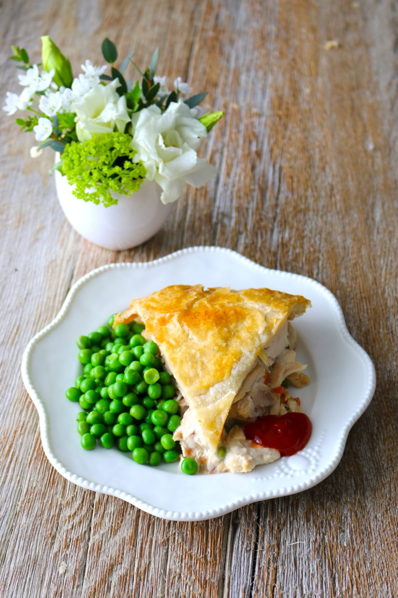pot pie, chicken, prepared foods, classic, green