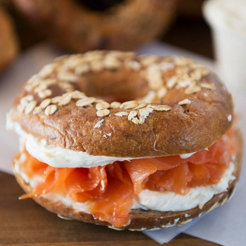 smoked salmon, bagel, house made, lox, deli, delicatessen, Toronto, foodie