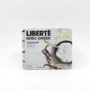 Liberte Greek 0% Yogurt, Vanilla - 4 x 100g