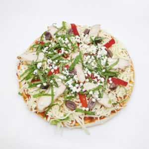 """Grilled Chicken, Red Pepper with Olives Pizza - 9"""""""