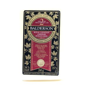 Balderson 2-Year Royal Canadian Cheddar - 280g