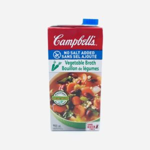 Campbell's Vegetable Broth No Salt - 900 mL