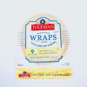 Toufayan Bakeries Low Carb, Low Sodium Wraps - 5 count